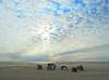 Dino bones (die Augen) Tags: dinosaur bones sand sky clouds sun rays sea waves ocean city maryland
