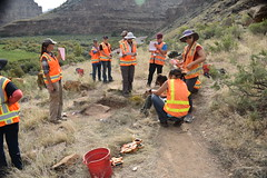 Participants at dig site (BLMUtah) Tags: blm blmutah bureauoflandmanagement utah ut archaeology history canyon rocks ancient stem learning painting art artifacts handson ninemilecanyon