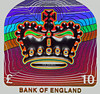 Hologram (1selecta) Tags: hologram holographic red green blue purple violet indego orange white black £10 £ pound money cash bank england crown highlight highlights highlighted face anthropomorphism anthropomorphic evil