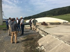 MABEX Bus Tour stops at Schrack Farm (pabiomass) Tags: biogas anaerobic digester biodigester farm lagoon mabex