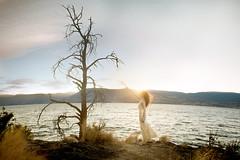 Change (Lichon photography) Tags: tree okanagan woman glow beauty standing glitter sunset surreal surrealism summer julia landscape nature park wow lake water mountain dead life tough