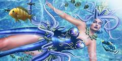 La calma absoluta no es la ley del océano. Lo mismo ocurre en el océano de la vida (Paulo Coelho) (pattybartavelle) Tags: patty bartavelle isis secretspy irrisistible shop square1 event fantasy mermaid sea undersea octopus mesh dress costume fancy outfit clothes sl second life secondlife maitreya belleza slink hourglass