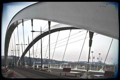 Pont Raymond Barre (just.Luc) Tags: pontraymondbarre bridge pont brücke brug lyon europa europe france frankrijk frankreich francia frança metal metaal seats banken benches bancs rhônealpes