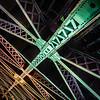 A Ferrous Gestalt (Paco_X) Tags: bridge chicago chicagoriver statestreet statestreetbridge steel iron girders rivets support underside structure