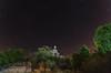 Nocturna. (Amparo Hervella) Tags: ermitadelcarmen embalsedelburguillo ávila españa spain paisaje ermita estrella nocturna naturaleza roca lightpainting largaexposición d7000 nikon nikond7000 comunidadespañola color