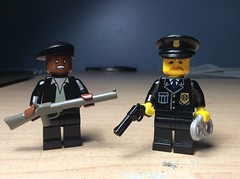 Standing strong in the face of oppression. (Kalev123) Tags: crow jim brutality police malcomx oppression party rights civil panther black lego