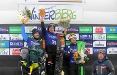 Siegerehrung FIS Snowboard Weltcup Winterberg 2017