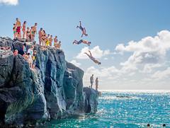 Waimea Bay North Shore Hawaii (meeyak) Tags: oahu hawaii northshore waimeabay waimea beach rockjumping people girls ocean island 808 travel vacation summer outdoors meeyak nikon d800 50mm hot warm fun