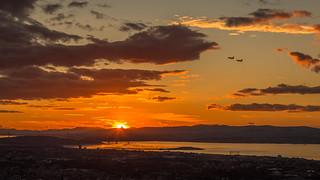 RAF Typhoon Flypast Over Edinburgh Sunset