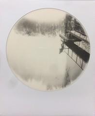 Reflection Says More (o_stap) Tags: monochrome blackandwhite bw roundframe reflection polaroid600 instant analog filmisnotdead ishootfilm believeinfilm polavoid polaroid impossibleproject bw600