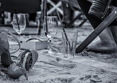 Relaxed (katrin glaesmann) Tags: shoe beach rooftop beachbar glasses summer sand feet deckchairs hannover monochrome blackandwhite people candid unterwegsmitmoni leatherjacket zipper heels highheels pumps parkhaus multistoreycarpark