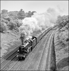 5305 climbing Hatton Bank on The South Yorkshireman. (johncheckley) Tags: uksteam black5 passengertrain
