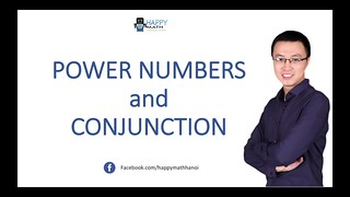 COVER EASILY MATH  POWER NUMBER AND CONJUNCTION - A LEVEL MATH - IB - IGCSE