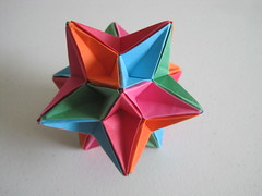 Eighth Stellation of the Icosahedron (James Lucas) (mborigami) Tags: origami modularorigami paper kusudama