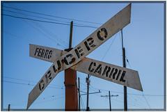 Cuba 2016 - Santiago de Cuba - Crossing (Ulster79) Tags: himmel verfall decay detail outdoor railwayinfrastructure rust sign sky transportation santiagodecuba cuba cu