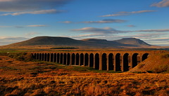 Ribblehead dawn (images@twiston) Tags: goldenhour 24arches dawn morning ribblehead viaduct arches blue sky cloud settle carlisle settlecarlisle yorkshire northyorkshire midland railway main line 1875 battymoss battywifehole sebastopol belgravia jericho scheduledancientmonument arch ribblesdale dales 3peaks ingleborough parkfell simonfell massif national park yorkshiredalesnationalpark moorland moor landscape twentyfour fells manmade stonework shadow shadows hoya polarizer cirpl cpl imagestwiston godsowncountry
