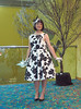 Belle Of The Ball (justplainrachel) Tags: justplainrachel rachel cd tv crossdresser trans tgirl transgender selfie selfportrait black white dress retro vintage fascinator heels tights frock