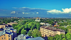 View over the city (akovt) Tags: pushkin russia church viewpoint cityview