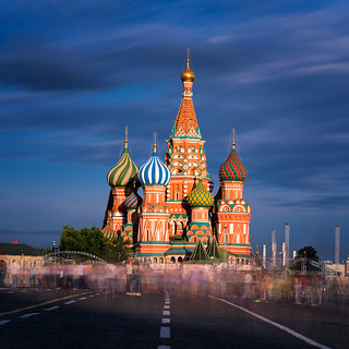 Tetris | Saint Basil's Cathedral, Red Square, Moscow, Russia