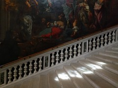 Tintoretto on the stairs - Venice, Italy (ashabot) Tags: venice veniceitaly europe worldcities seetheworld art architecture paintings