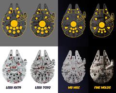 UCS Millennium Falcon Comparison (Marshal Banana) Tags: