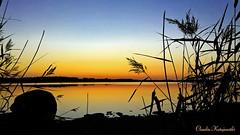 Beautiful sunset in Finland. (ClaudiaKatajamäki) Tags: sunset lake auringonlasku finland sky lago atardecer järvimaisema landscape