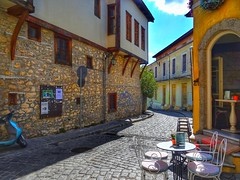 Old town of Xanthi.. Municipal Art Gallery..Greece (panoskaralis) Tags: village xanthi city path road stonehouses oldhouses houses greece hellas outdoor landscape building oldbuildings buildings cafeteria cafe caffe municipalartgallery art greekart gallery