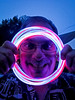 Fred (Nicholas Erwin) Tags: people person portrait funny colorful colours blue comedy fred 4thofjuly independenceday party glowing glow night evening waterbury vermont vt unitedstatesofamerica usa samsunggalaxys7 galaxys7
