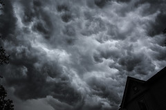 State of Emergency (drei88) Tags: dark storm clouds hail torrential seething mass alive shadow massive alarm warning thunderstorm sinister menacing evil lurking grim bleak dreary eclipse boiling cauldron