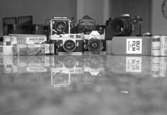 Travel Kit (macromary) Tags: bergger400 bergger 35mm film leicaflexsl leica leitz leicaflex slr primelens vintage camera manual bw blackandwhite rodinal elmarit 1100 cameraporn vintagecameras