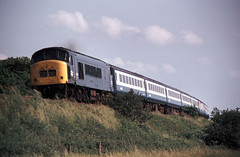 Ratcliffe on Soar Class 45 down June 76 J5301 (DavidWF2009) Tags: ratcliffeonsoar midlandrailway mr class45 peak