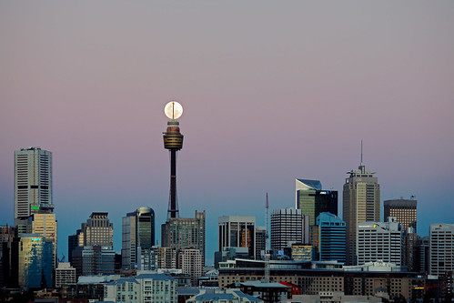 Moonrise over Sydney