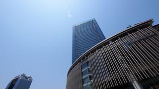 Blue sky over Grand Front Osaka