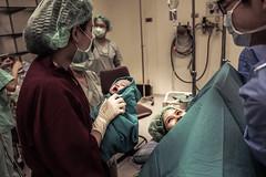 smile with her eyes (kiatthaworn khorthawornwong) Tags: lr labor room mom mother child baby boy doctor medical medicine smile eye nurse operation newborn fujifilm