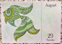 Johanna Basford, 2017 Coloring Calender.  Andrews McMeel Publishing, 2016 (delphinecingal) Tags: pencils feutresdocrafts® docrafts®markers crayons kohinoor craiespastels pastelchalks johannabasford2017coloringcalenderandrewsmcmeelpublishingcouleurcolorscoloringcoloriage