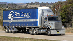 Ron CROUCH Transport Crossing (Jungle Jack Movements (ferroequinologist)) Tags: ron crouch transport jerrawa sydney wagga yass hume highway nsw new south wales australia mercedes benz western star cabover truck tractor prime mover diesel smoke injected motor engine driver cab cabin wheel exhaust loud rumble beast metallic hood litre cubic inches hp horsepower gear haul haulage freight trucker drive carry carrying moving shipping delivery bulk lorry hgv wagon road nose semi trailer double b cargo interstate articulated vehicle load freighter ship move power grunt teamster