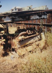 Old rusty engine (The Golden Pineapple) Tags: junkyard film engine rustyandcrusty old