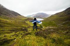 Taste of Freedom (cernovva) Tags: freedom hills mountain girls female green heather lake clouds mist fog