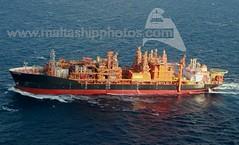 ARMADA KRAKEN towed off Pantelleria - 25.12.2016 - www.maltashipphotos.com (Malta Ship Photos & Action Photos) Tags: sea ship offshore pantelleria fpso armada kraken norwegian singapore sgp flag bumi malaysia