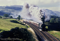 The Volcano At Stainforth (Michael McNicholas) (neilh156) Tags: steam steamloco steamengine mainlinesteam railway 34092 cityofwells stainforth settletocarlislerailway thehalifaxbanker pacificloco bulleidpacific westcountryclass westcountrypacific southernrailway bulleid michaelmcnicholas