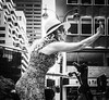Park Avenue near what was once the Pan Am building. (Mintzography) Tags: blackwhite micro43 olympuspenf street manhattan 2017 summerstreets parkavenue nyc