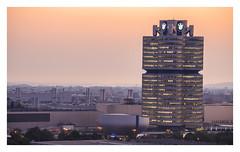 Before Munich aWakes. (Anscheinend) Tags: münchen munich monacodibaviera bayern bavaria bmw vierzylinder olympiapark deutschland germany germania allemagne sunrise aurora architecture architektur building city cityscape skyscraper sky sonnenaufgang