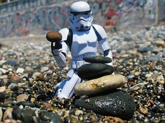 Stack Em Up in Spain (cryingman) Tags: spain malaga starwars stormtrooper toy toyphotography adventure geek pop beach
