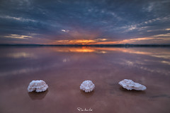 The Three Twins (Pablo Moreno Moral) Tags: twins gemelas sal salt pink rosa water agua nikon sunset atardecer landscape paisaje