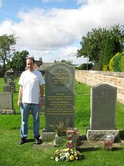 Photo of Jim Clark's Grave, Chirnside Parish Church 2009