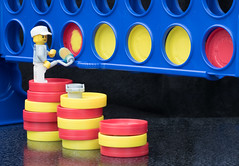 A Litttle Bit of Fun (londonlass16 LRPS CPAGB) Tags: lego stilllife tabletop connect4 colour paint cheat win toys toy minifigures legominifigures decorator painter game