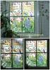 Windowpainting (Bathroom) (Matthias Talmeier) Tags: windowpainting fenstermalerei stabilowoody romantik blumen flower delphinium blueflower