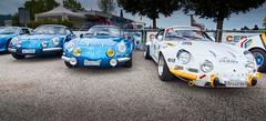 A trio of Alpines (ScrewJ) Tags: bleienbach car carshow classiccar cloudy oldtimertreff outdoor renaultalpine switzerland tokina1116