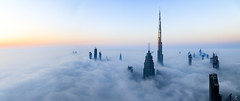 W O N D E R L A N D (ZulfiPhoto) Tags: aerial cityscape skyline skyscrapers burjkhalifa fog nature natgeo sunrise climate weather