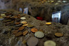 offerings (geneward2) Tags: offerings coins rock hewn church ivanovo rusenski
